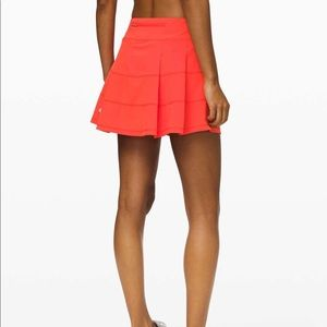 Lululemon Pace Rival Skirt in thermal red